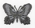 Applikation Patch Schmetterling 7,5 x 5,5cm Farbe: Dunkelgrau