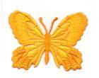 Applikation Patch Schmetterling 7,5 x 5,5cm Farbe: Orange