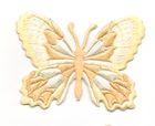 Applikation Patch Schmetterling 7,5 x 5,5cm Farbe: Beige