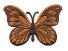 Applikation Patch Schmetterling 7,5x5,5cm Farbe: Dunkelbraun