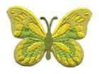 Applikation Patch Schmetterling 7,5x5,5cm Farbe: Maigrün