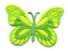 Applikation Patch Schmetterling 7,5x5,5cm Farbe: Neongrün
