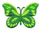 Applikation Patch Schmetterling 7,5x5,5cm Farbe: Grün