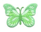 Applikation Patch Schmetterling 7,5x5,5cm Farbe: Hellgrün