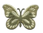 Applikation Patch Schmetterling 7,5x5,5cm Farbe: Zedergrün