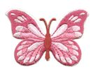 Applikation Patch Schmetterling 7,5x5,5cm Farbe: Magenta