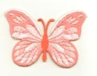 Applikation Patch Schmetterling 7,5x5,5cm Farbe: Rosa