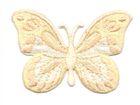 Applikation Patch Schmetterling 7,5x5,5cm Farbe: Beige