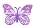 Applikation Patch Schmetterling 7,5x5,5cm Farbe: Flieder