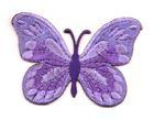 Applikation Patch Schmetterling 7,5x5,5cm Farbe: Lila