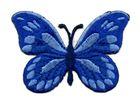 Applikation Patch Schmetterling 7,5x5,5cm Farbe: Blau