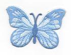 Applikation Patch Schmetterling 7,5x5,5cm Farbe: Hellblau
