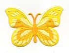 Applikation Patch Schmetterling 7,5x5,5cm Farbe: Gelb