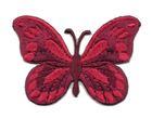 Applikation Patch Schmetterling 7,5x5,5cm Farbe: Dunkelrot