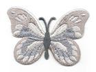 Applikation Patch Schmetterling 7,5x5,5cm Farbe: Grau