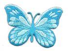Applikation Patch Schmetterling 7,5x5,5cm Farbe: Türkis