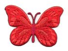 Applikation Patch Schmetterling 7,5x5,5cm Farbe: Indischrot