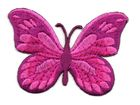 Applikation Patch Schmetterling 7,5x5,5cm Farbe: Fuchsia