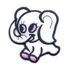 Applikation Sticker Elefant 5,4 x 5,8cm Farbe: Weiss-Pink