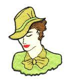 Applikation Patch Frau 5,5 x 7,5cm Farbe: Neongrün