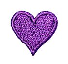 Applikation Sticker Herz 2 x 2cm Farbe: Violett