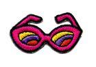 Applikation Brille Sonnenbrille 4 x 2,2cm Farbe: Fuchsia