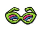 Applikation Brille Sonnenbrille 4 x 2,2cm Farbe: Neongrün