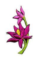 Applikation Sticker Blume 4,7 x 2,6cm Farbe: Violett