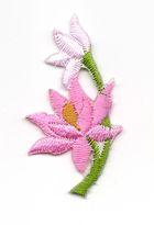 Applikation Sticker Blume 4,7 x 2,6cm Farbe: Rosa