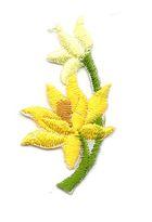 Applikation Sticker Blume 4,7 x 2,6cm Farbe: Gelb
