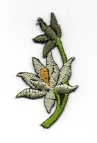 Applikation Sticker Blume 4,7 x 2,6cm Farbe: Beige