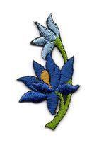 Applikation Sticker Blume 4,7 x 2,6cm Farbe: Dunkelblau