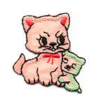 Applikation Sticker Katzenpaar 3,7 x 3,2cm Farbe: Terracotta