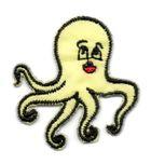 Applikation Sticker Fisch Krake Oktopus 3,8 x 4cm Farbe: Gelb