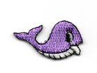 Applikation Sticker Fisch Wal 3,3 x 1,9cm Farbe: Lila