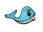 Applikation Sticker Fisch Wal 3,3 x 1,9cm Farbe: Türkis