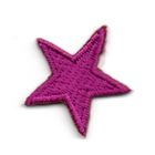 Applikation Sticker Stern 2,2 x 2,2cm Farbe: Violett