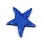 Applikation Sticker Stern 2,2 x 2,2cm Farbe: Blau