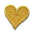 Applikation Sticker Herz 2 x 2cm Farbe: Lurex-Gold