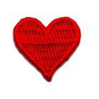 Applikation Sticker Herz 2 x 2cm Farbe: Rot