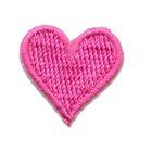 Applikation Sticker Herz 2 x 2cm Farbe: Rosa