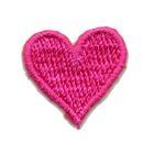 Applikation Sticker Herz 2 x 2cm Farbe: Pink