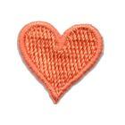 Applikation Sticker Herz 2 x 2cm Farbe: Orange