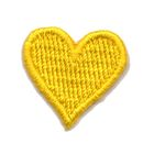 Applikation Sticker Herz 2 x 2cm Farbe: Gelb