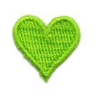 Applikation Sticker Herz 2 x 2cm Farbe: Neongrün