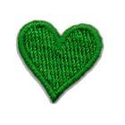 Applikation Sticker Herz 2 x 2cm Farbe: Grün