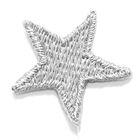 Applikation Sticker Stern 2,2 x 2,2cm Farbe: Lurex-Silber