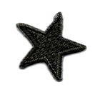 Applikation Sticker Stern 2,2 x 2,2cm Farbe: Schwarz