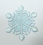 Applikation Patch Eiskristall 5,5 x 5,5cm Farbe: Hellblau
