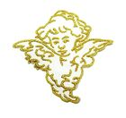 Applikation Patch Engel 5,5 x 5,5cm Farbe: Weiss-Gold